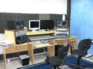 Sala da tecnica vista lateralmente